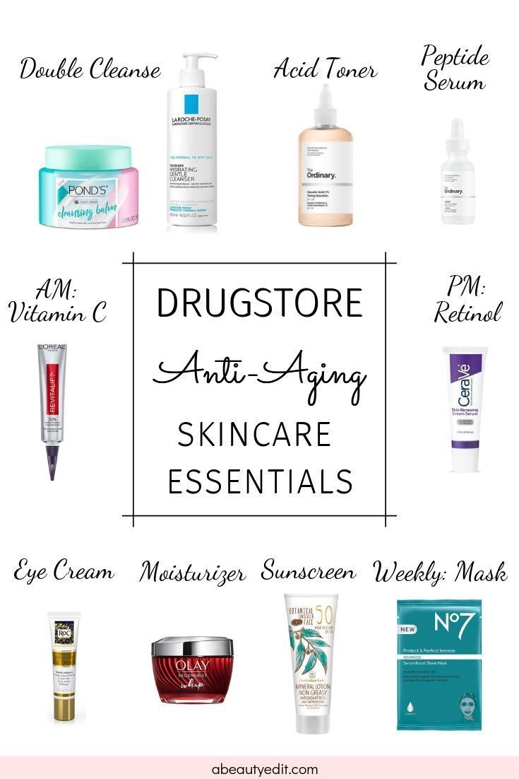 Drugstore Anti Aging Essentials For Your Skincare Routine In 2020 Skin Care Essentials Top Skin Care Products Anti Aging Eye Cream