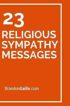 23 Religious Sympathy Messages