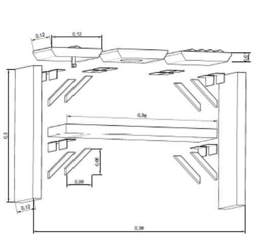 Plano de montaje del producto diseñado y presentado en el concurso FINSA 2015.