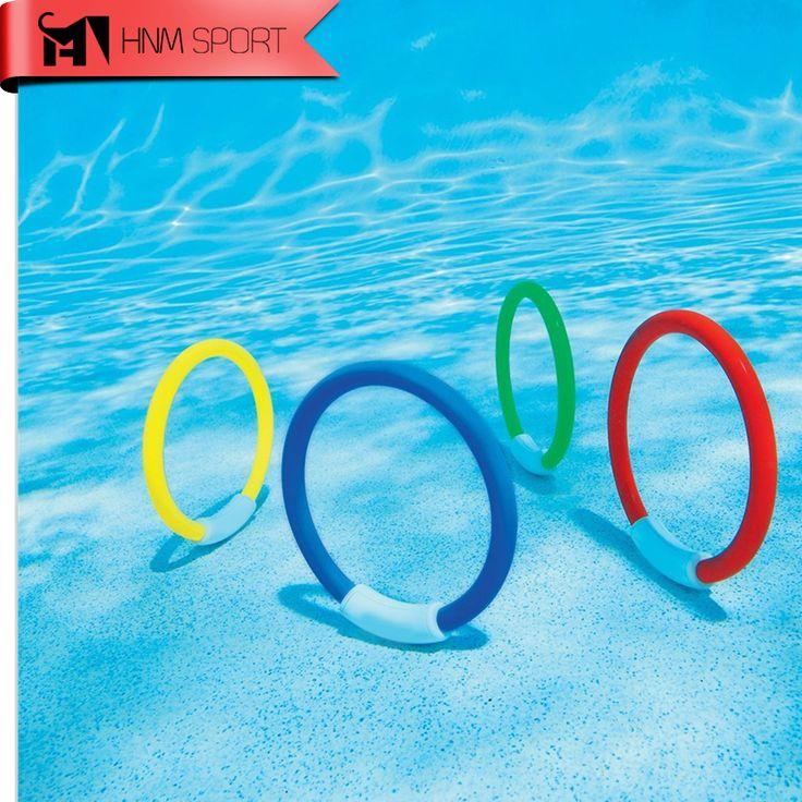 4 Teile/los Dive Ring Schwimmbad Zubehör Spielzeug Schwimmen Hilfe für kinder Wasser Spielen Sport Tauchen Strand Sommer Spielzeug Kinder Pool spaß