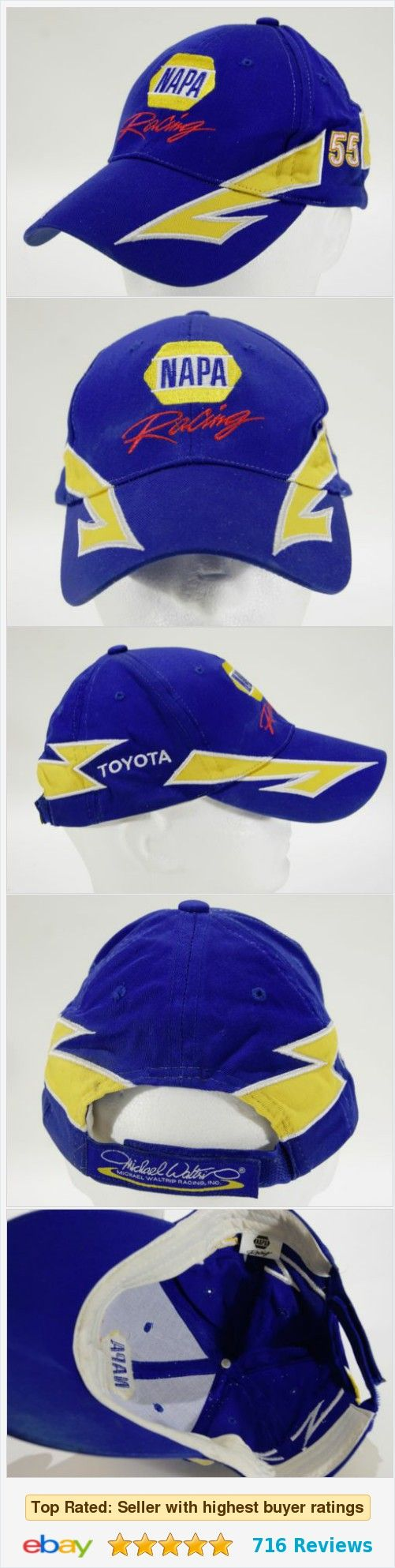 Nascar NAPA Toyota Racing Ball Cap Michael Waltrip Blue Adjustable Adult Hat