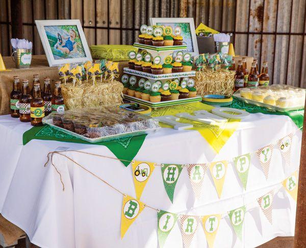Creative John Deere Themed Party {Boys Birthday}