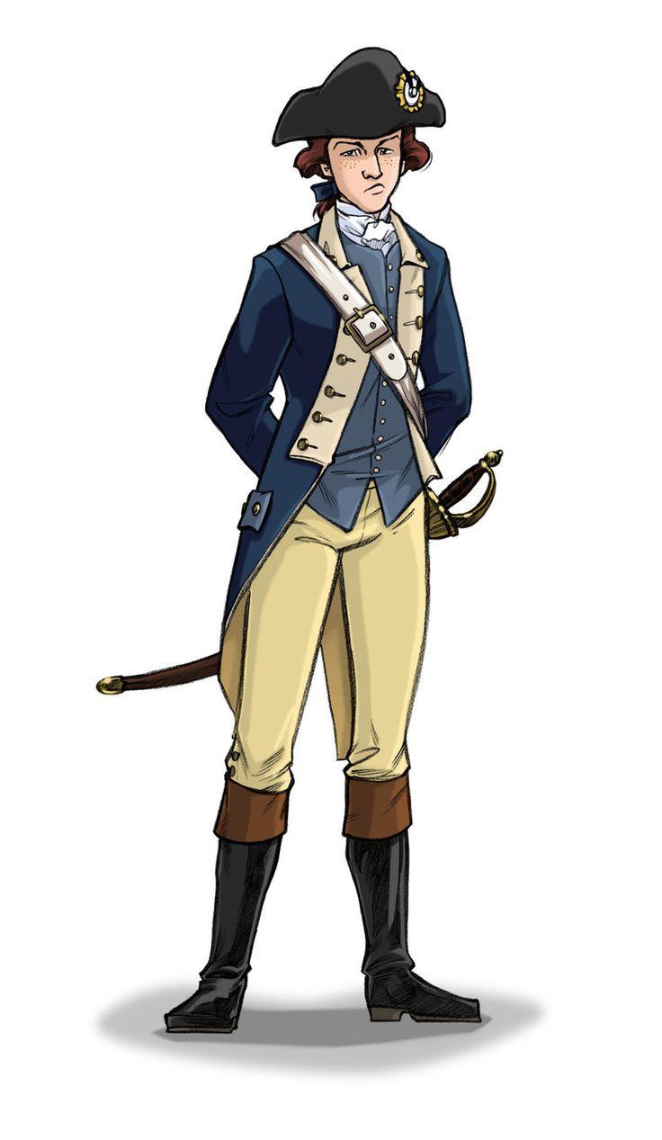 John Adams Cartoon Full Body