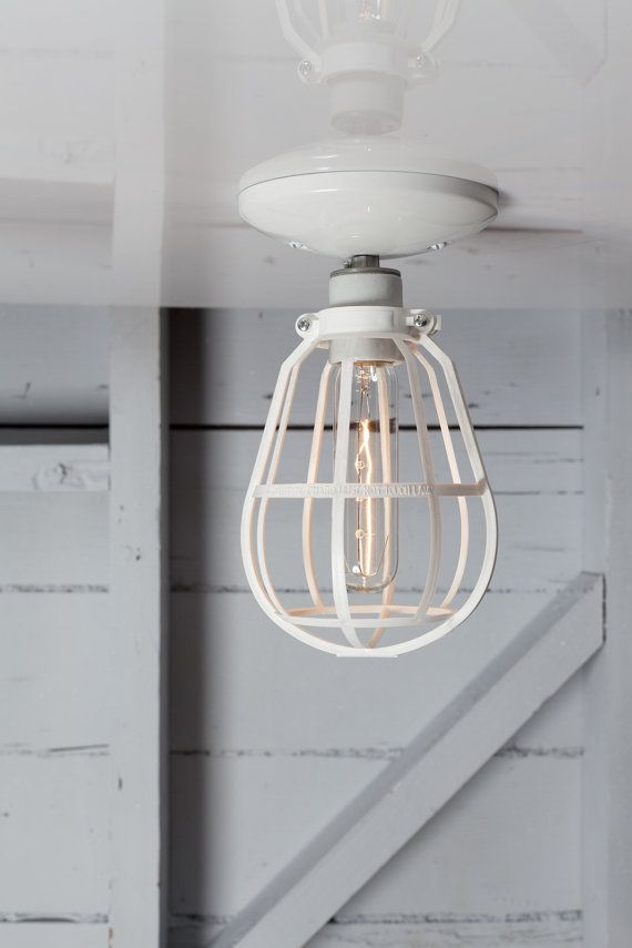 Industrial Lighting  Modern Cage Light  Ceiling Mount by IndLights, $44.00 for the porch