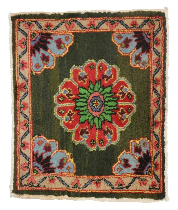 Vintage Turkish Oushak Rug with Modern Traditional Style, Little Oushak Rug | From a unique collection of antique and modern turkish rugs at https://www.1stdibs.com/furniture/rugs-carpets/turkish-rugs/