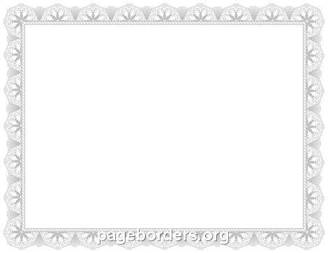 Silver Certificate Border