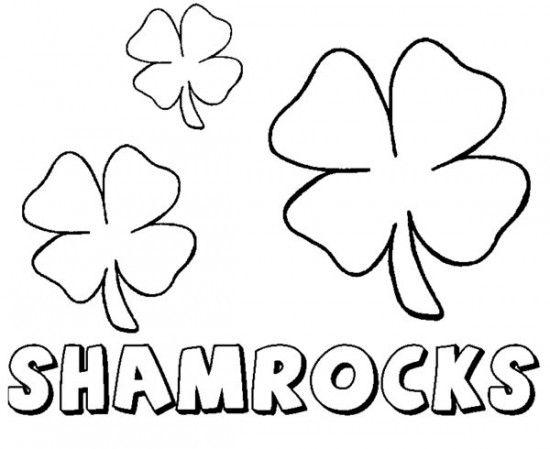 shamrock coloring pages printable enjoy coloring - Shamrock Coloring Pages Printable