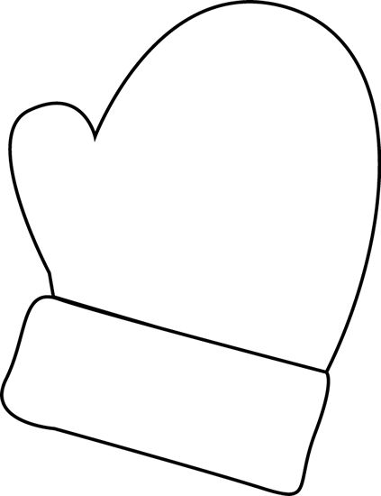 mittens clip art | Black and White Mitten Clip Art - black ...