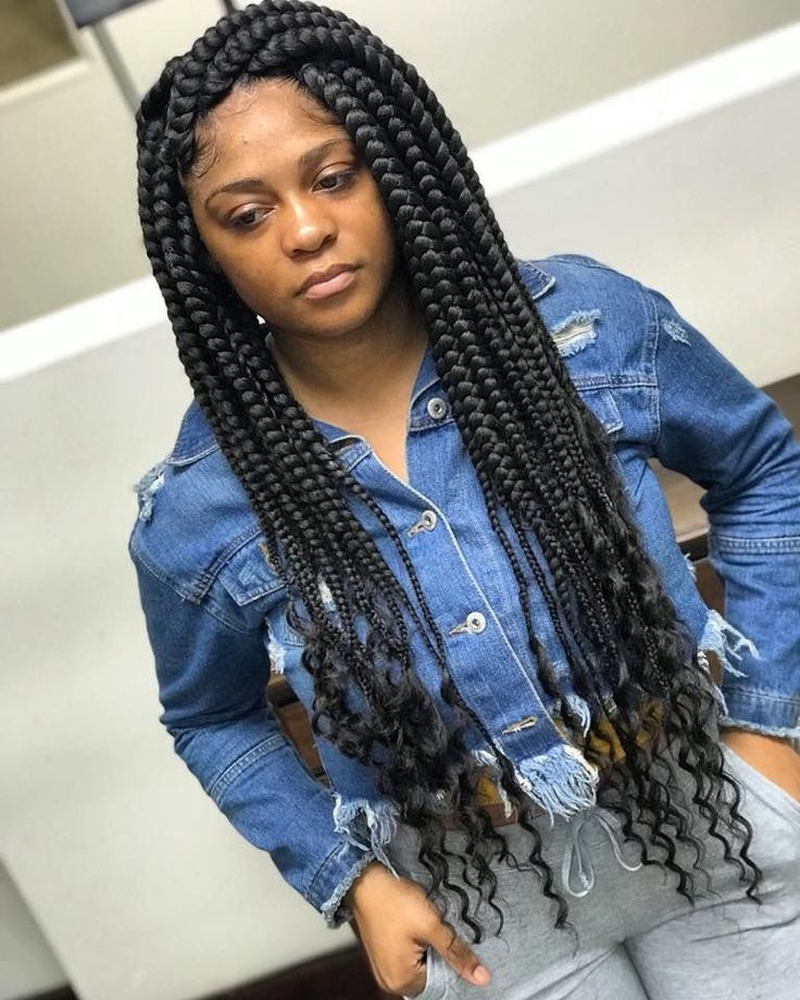 # jumbo box Braids curly ends # jumbo box Braids curly ends in 2020 | Braids with curls, Box ...