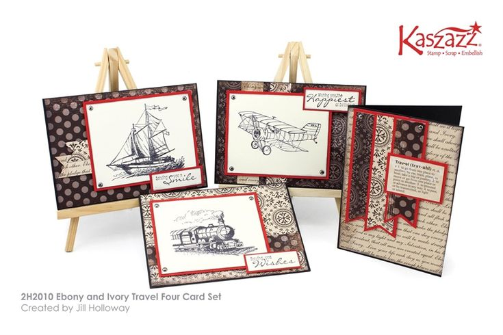 2H2010 Ebony and Ivory Travel Four Card Set