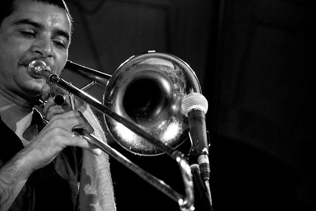 Gianluca Petrella, italian jazz trombonist  #jazz