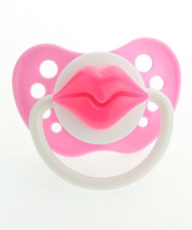 Pink Lips Pacifier by Crystal Dream