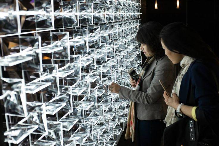 Zoomed into Ridge Stones. #euroluce2015 #milandesignweek #salonedelmobile #light #design #interiordesign #ridgestones #vacek #smid  #vacek&smid #labyrinth #glass #inspiration #luxury #decoration #style #preciosalighting
