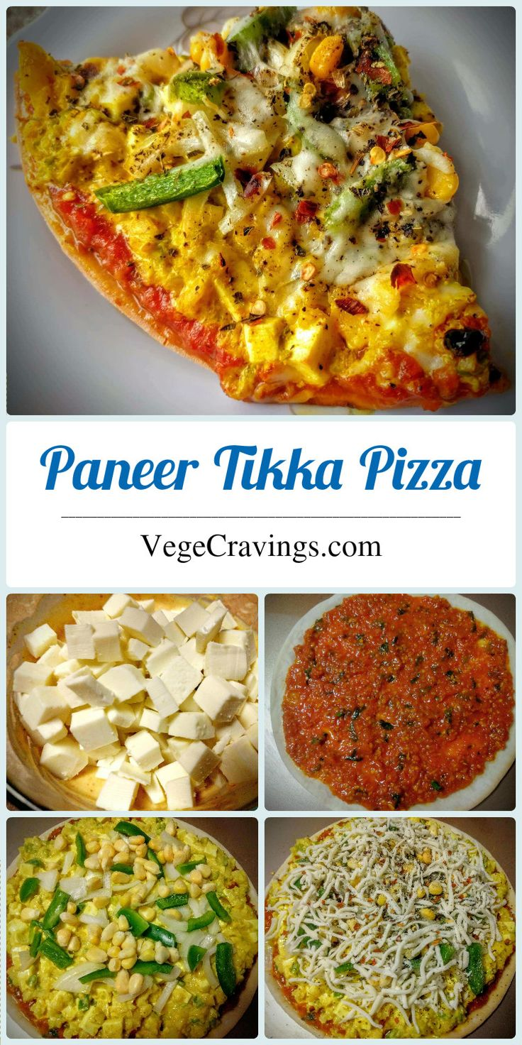 Indian style pizza topped with Paneer Tikka mixture, veggies, cheese and baked to golden crispy perfection. | Indian Vegetarian Snack Recipe with Step By Step Photos