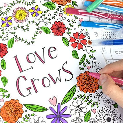 Free adult colouring sheets, inspirational colouring sheets, printable colouring sheets for adults from daisies and pie