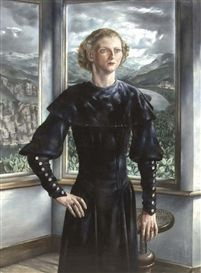 """Portret van Wilma (A Portrait of Wilma)"" / Carel Willink (1900-1983)"