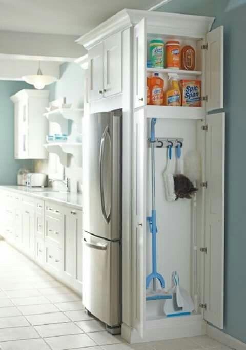 Valymo priemones salia virtuves