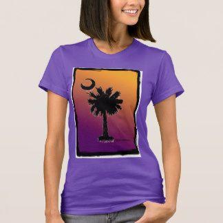 Ladies Palmetto T-Shirt, Orange/Purple Fade T-Shirt