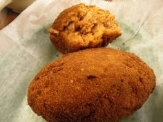 A recipe for Deviled Crab Meat Croquettes, Ybor style made with day old loaf of white bread, paprika, salt, fine bread, olive oil, Bermuda Onion