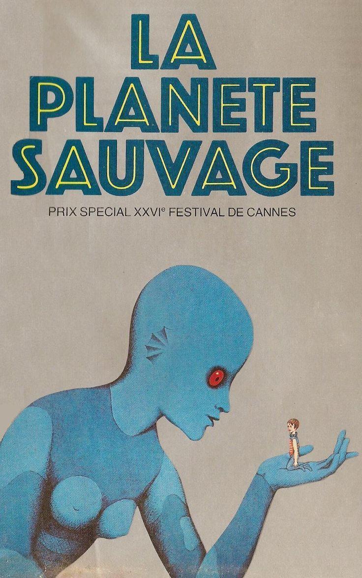 """La planète sauvage - René Laloux 1973 -- """"Sur la planète Ygam, vivent des androïdes génats appelés les Draags. Ils élèvent de minuscules êtres humains qu'ils surnomment Oms. Mais un jour, l'Om de la jeune Tiwa se révèle plus intelligent & va déclencher une révolte."""""""