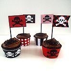 Pirates Party Cupcake
