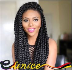 Hot Factory Price Full-Size Havana Mambo Twist Crochet Braids, Jumbo Box Braids, Marley Braiding Hair, Cheap Hair Extensions