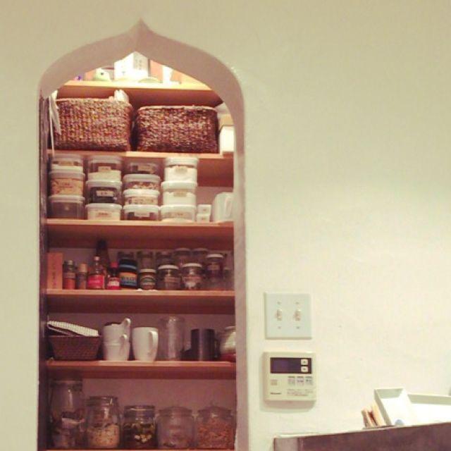 Dutchbabyさんの、食品庫,IKEA マグカップ,瓶 再利用,パントリー,無印良品,アメリカンスイッチ,キッチン,のお部屋写真