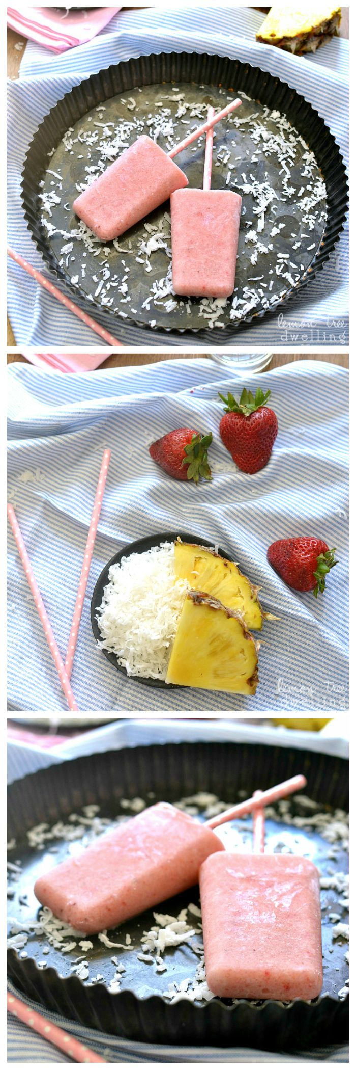 70 Best Popsicles Images On Pinterest Beverage Cafes And Colors Tous Les Jours Strawberry Fresh Cream Cake 2 E Voucher Colada Made With Truvia Natural Sweetener These Combine Fruit Creamy Coconut Milk For A Delicious Treat Thats
