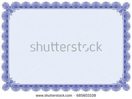 Classic border with soft blue pattern background