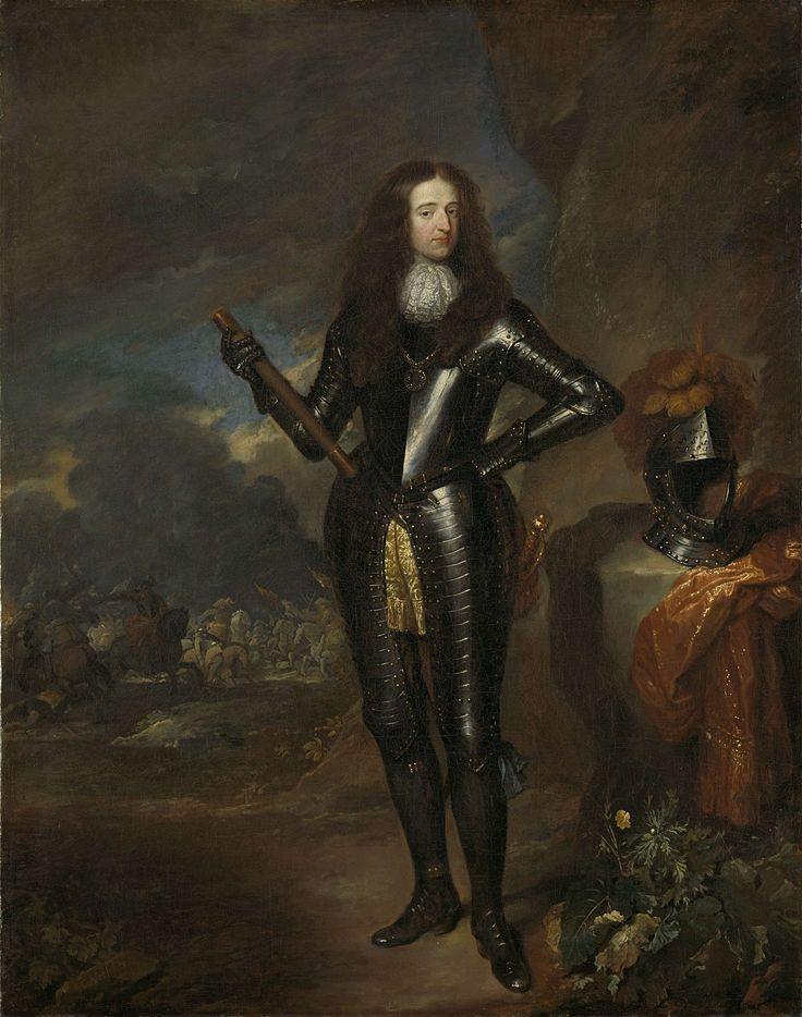 Portret van Willem III, prins van Oranje en sinds 1689 koning van Engeland, Caspar Netscher, 1680