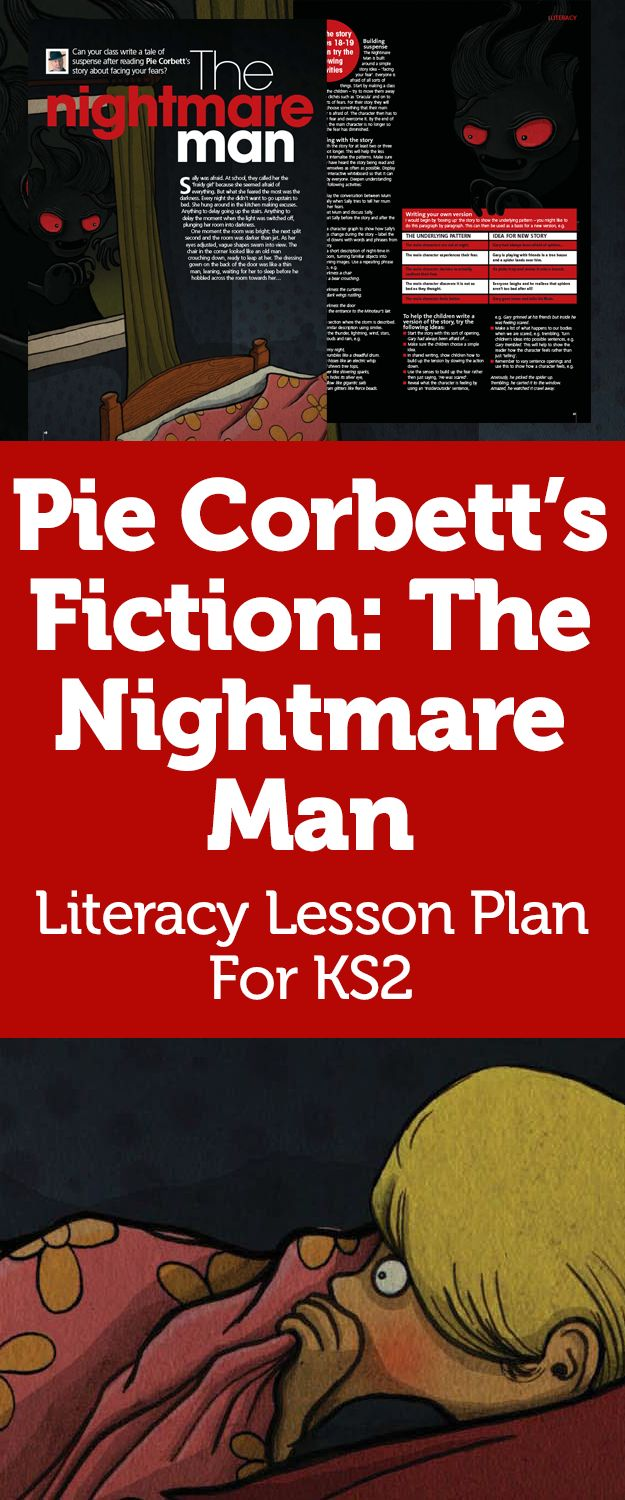 Pie Corbett's KS2 Creative Writing – Tales Of Suspense With The Nightmare Man