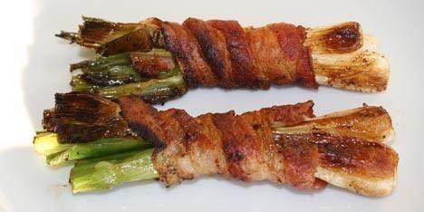 Forårsløg med bacon