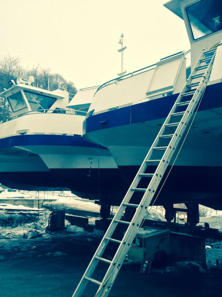 Then there were two! #NIAGARCRUISES #boattour Our catamarans are done being assembled. #bringonspring