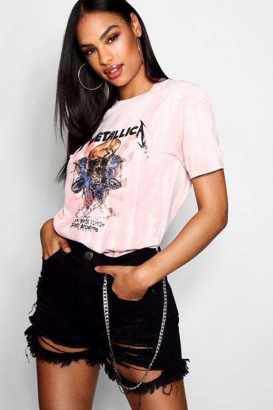 52935f384 Metallica Washed Slogan T-Shirt in 2019 | Dream Wardrobe | T shirts ...