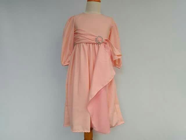 GAUN PESTA ANAK, Kode : Aini160501 Pink, Bahan: Twist crepe, Ukuran yang tersedia usia 2 -12 tahun  Order : 082330528745 (telp/sms/Line) #partydress