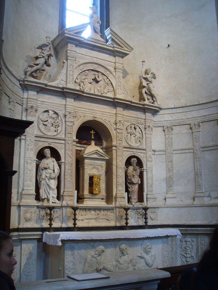 Santo Spirito, andrea sansovino, altare del sacramento, 1490 circa 04 - Category:Santo Spirito (Florence) - Interior - Wikimedia Commons