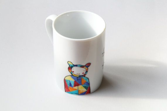 Mug hand-painted ooak mug custom mug by NataliesWunderland on Etsy