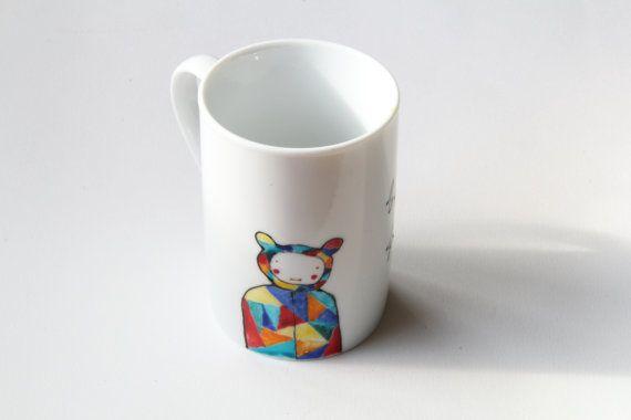 Mug hand-painted ooak mug custom mug by NataliesWunderland on Etsy