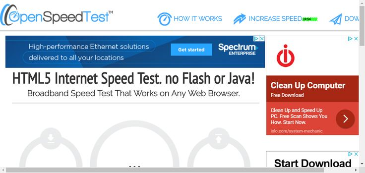 Pure HTML5 Internet Speed Test. No Flash or Java!