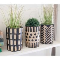 This tutorial is how to DIY Aztec succulent pots with terra cotta pots, some matte spray paint, a handful of paint pens, and a lot of patience. Let's get started on our DIY Aztec pots!