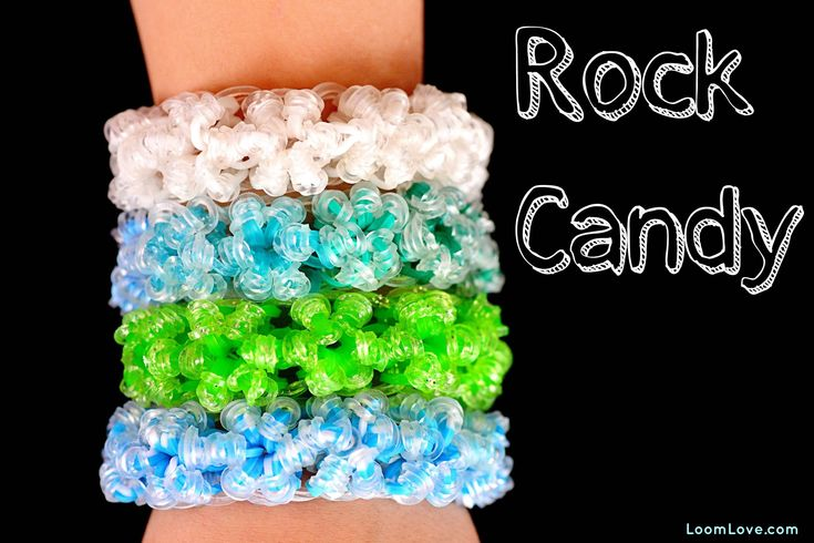 Rainbow Loom Rock Candy Bracelet How to Video Tutorial.  We love this design.