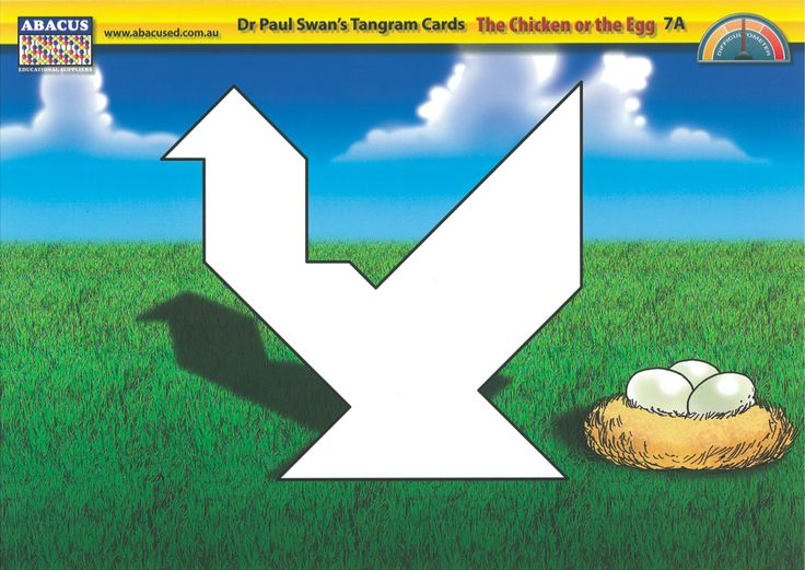 Tangram Puzzle Cards - By Paul Swan Set of durable tangram puzzle cards. Includes easy and difficult levels. Designed to encourage students to grapple with geometry concepts.
