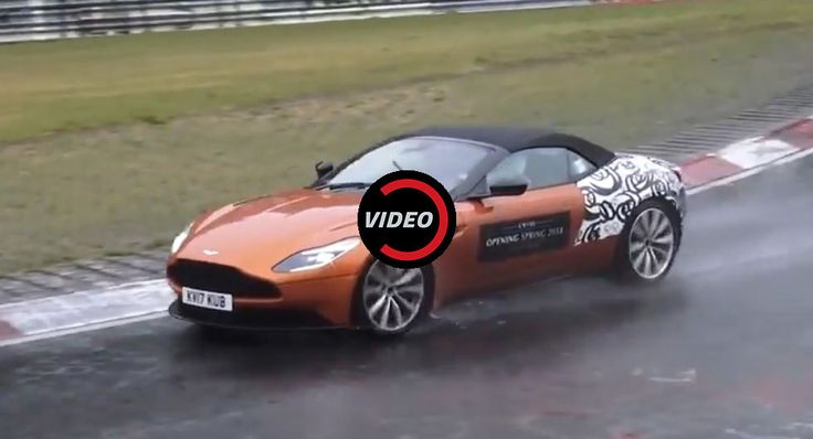 Watch The Aston Martin DB11 Volante Tackle The Ring In The Rain