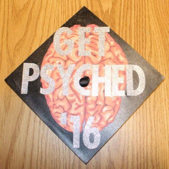 Psychology graduation cap decoration #graduation #cap #gradcap #grad #college