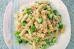Spelt Pasta with Broccoli and Almonds. i love this!! made it and it was soo good :D