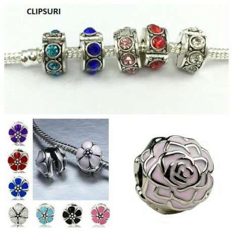 4+2Gratis Charm,talisman tip Pandora,lant de siguranta,clips,bratari Bucuresti - imagine 8