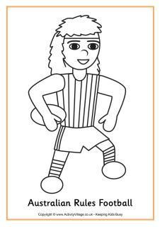 Australian Rules Football Colouring Page