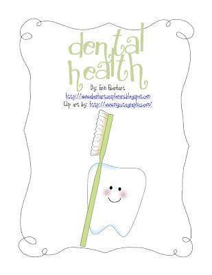 CUTE dental health unit (free!!)