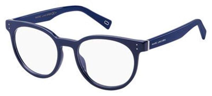 Marc Jacobs Plastic Tea Cup Eyeglasses 49 0OTC Blue #MarcJacobs