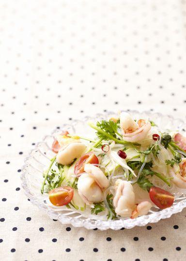 ヤムウンセン~タイ風春雨サラダ~ のレシピ・作り方 │ABCクッキングスタジオのレシピ   料理教室・スクールならABCクッキングスタジオ